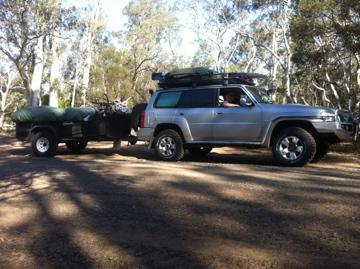 On the dirt in the Grampians