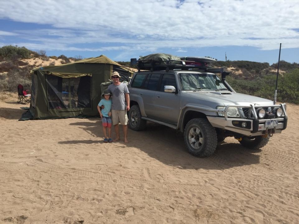 Our camp at Catcus Beach