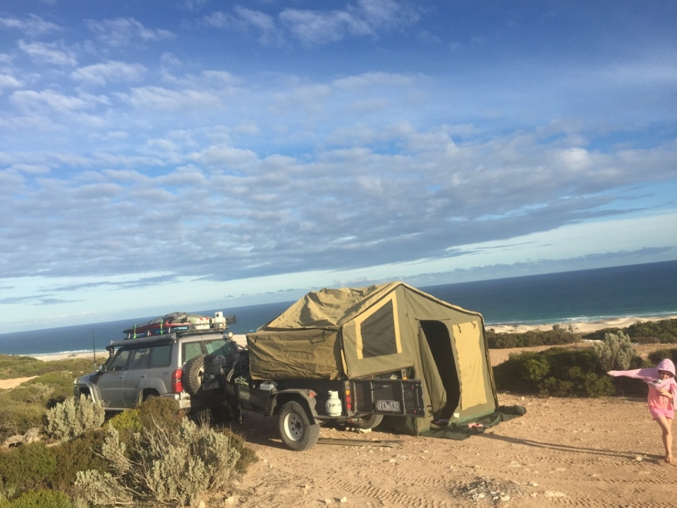 Not a bad spot to camp - million dollar views