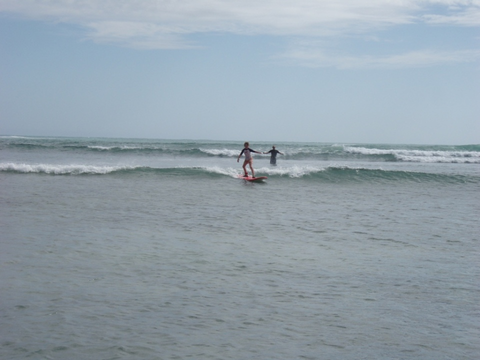 Aaron Catching his first wave at Cactus