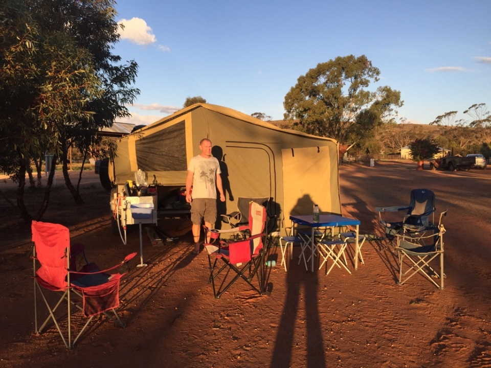 Fraser Range Camp at sunset