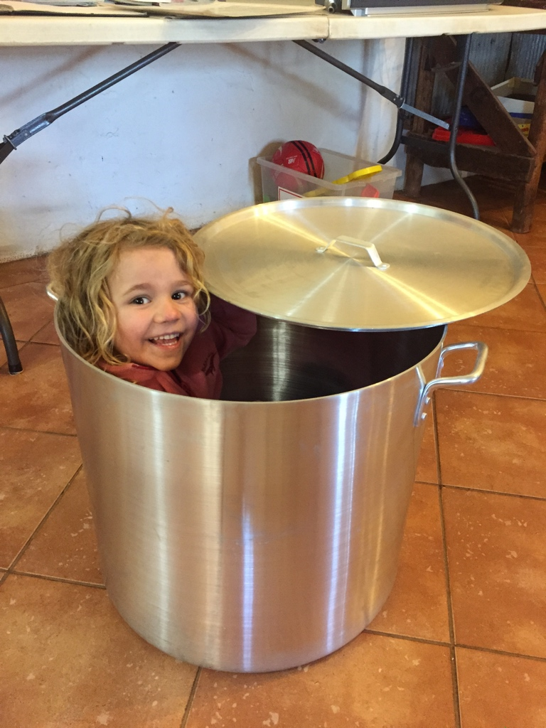 Bianca in the pot!