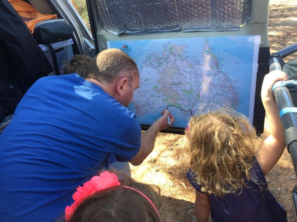 Map update crossing the Nullarbor