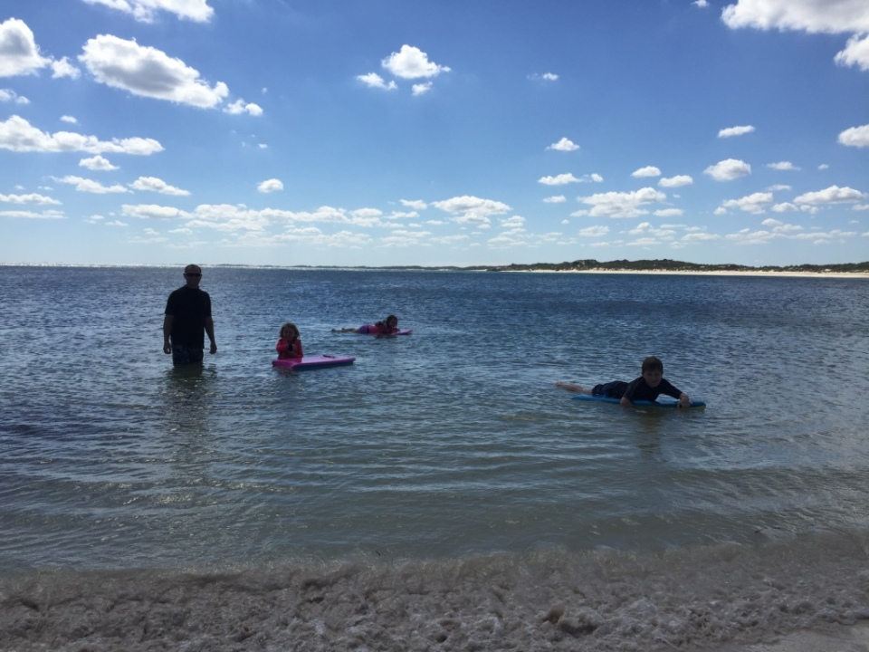 swimming at Sandy Point