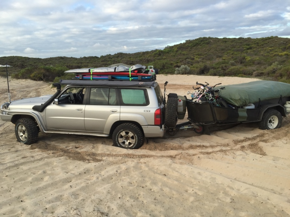 Bogged at first camp!