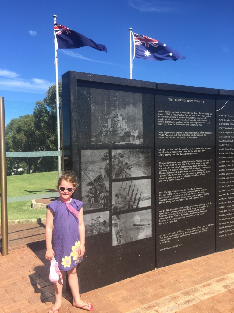 The wall at the HMAS Sydney II memorial