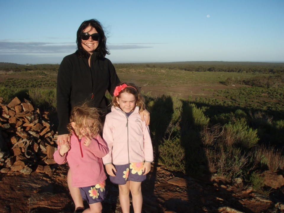 The girls at the Fraser Range Lookout