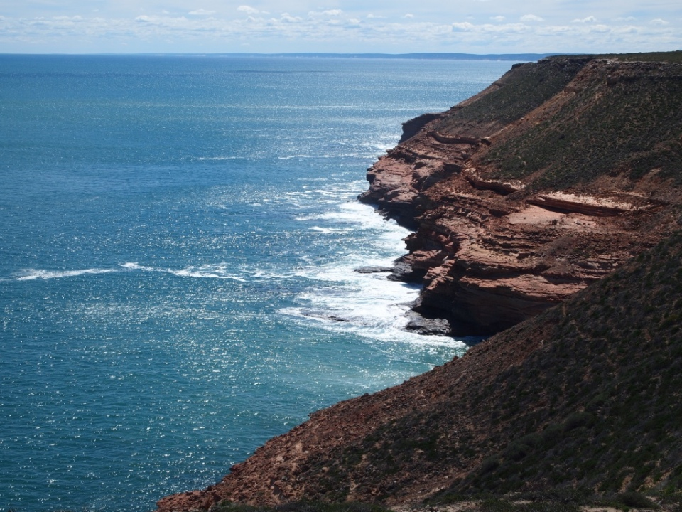 the cliffs coast leading into Kalbarri.