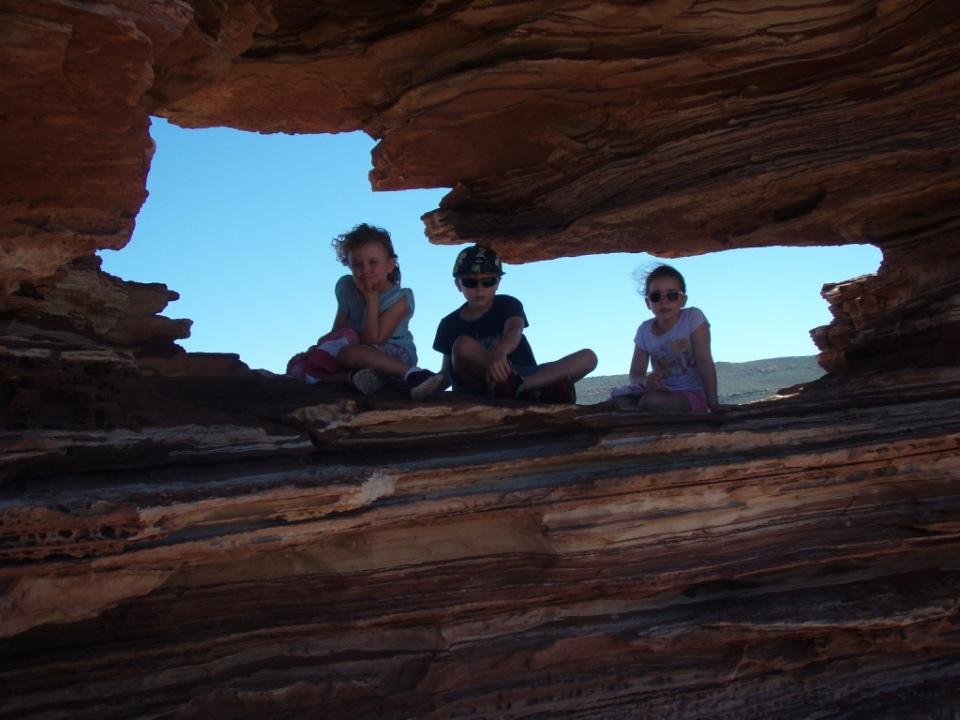 Kids in natures Window