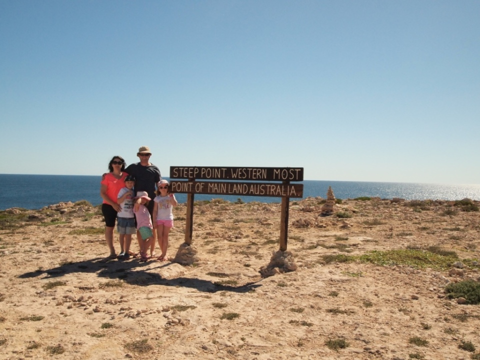 Family snap at the most westerly point of Australian  mainland.