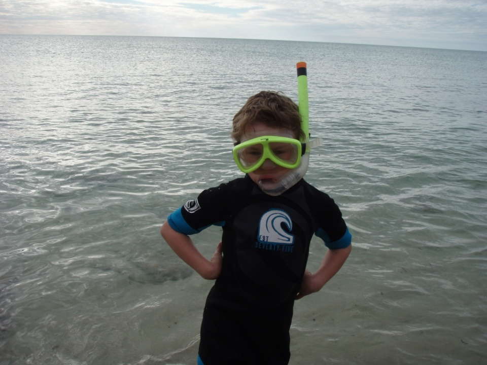 Aaron...I am ready to snorkel