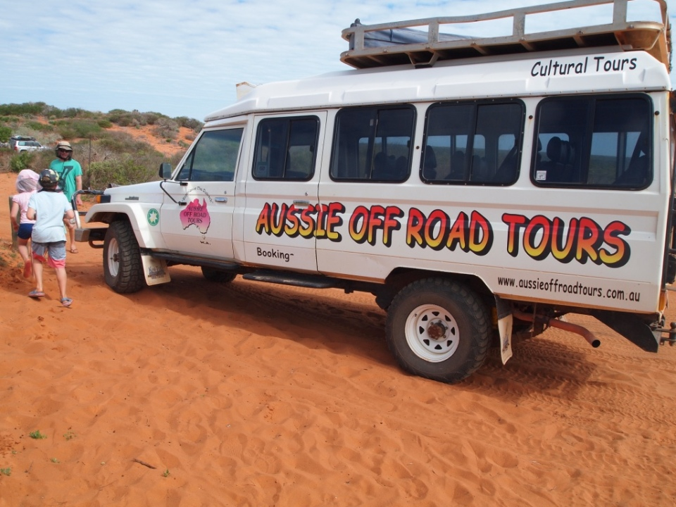 The troupe carrier bus - the great guide Cape's business