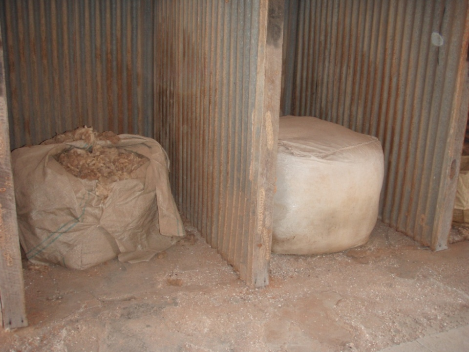 old wool bales