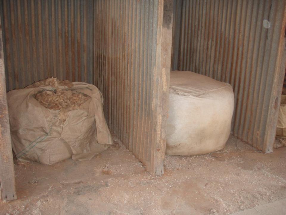 old wool bales