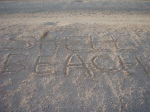This was also written on the beach