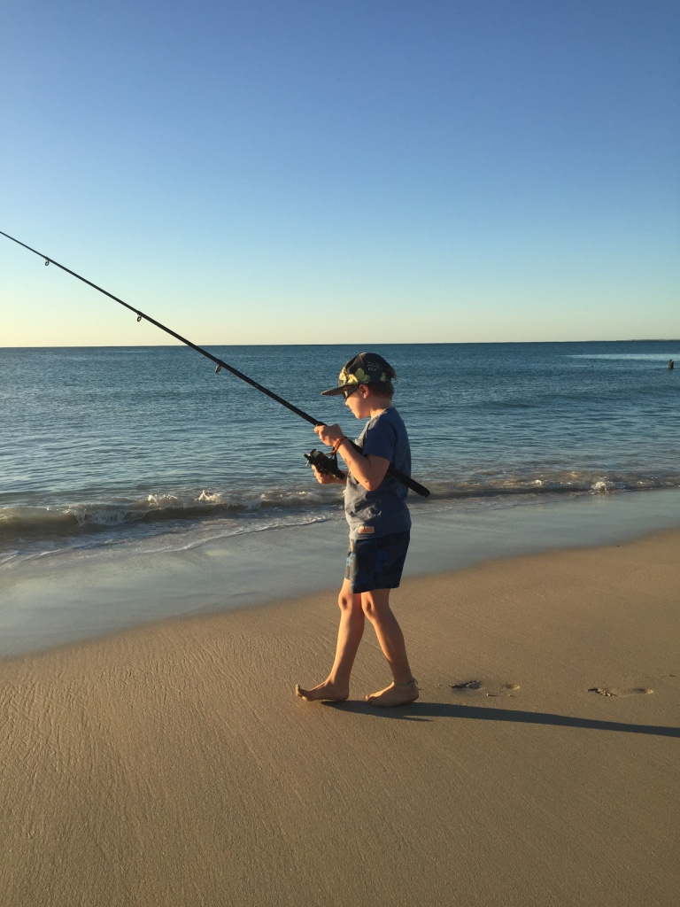 Fishing at Coral bay b