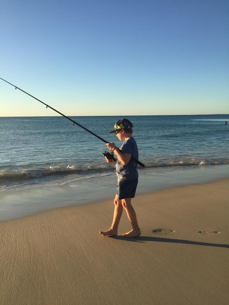 Fishing at Coral bay b