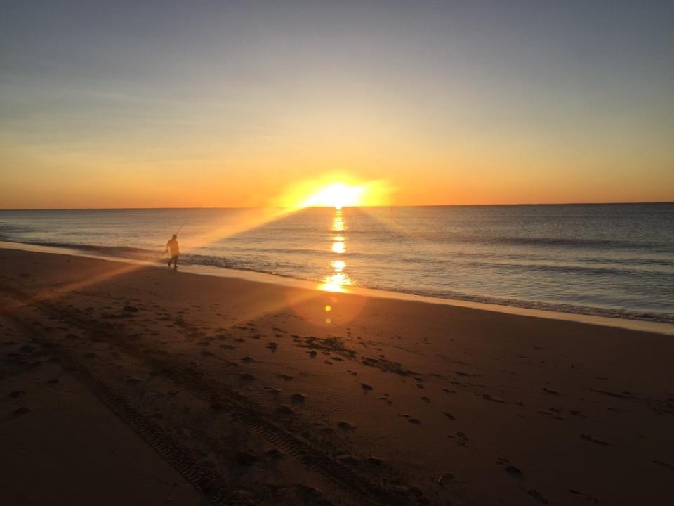 Sunset at fishing