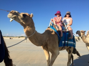 Holly and I on the camel