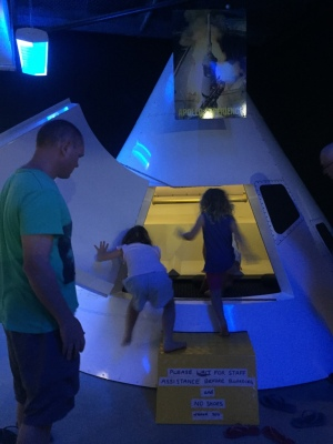 Getting into the space ship