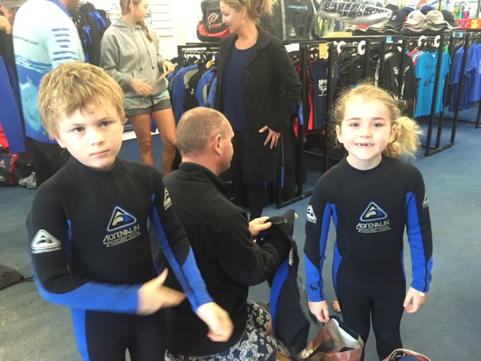 Wet suits for the adventure into open water