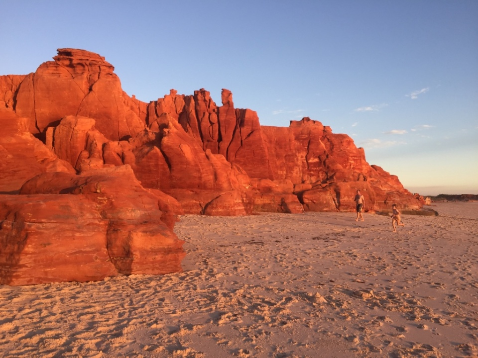 Red cliffs at Cape Levee