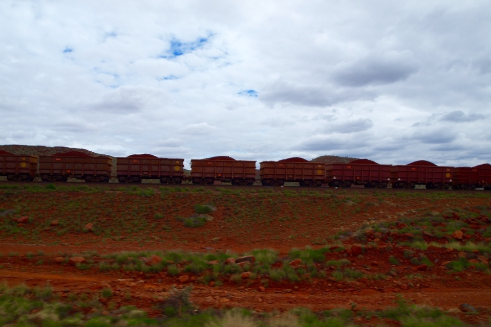 A train full of iron ore