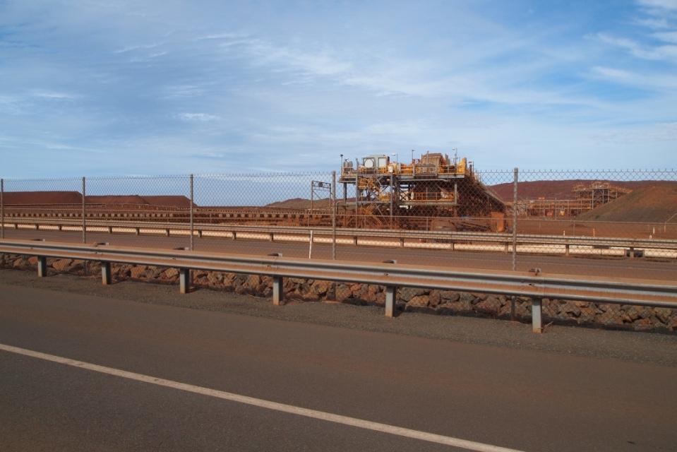 Huge mining infrastructure