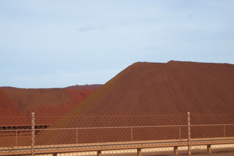 iron ore stock piles