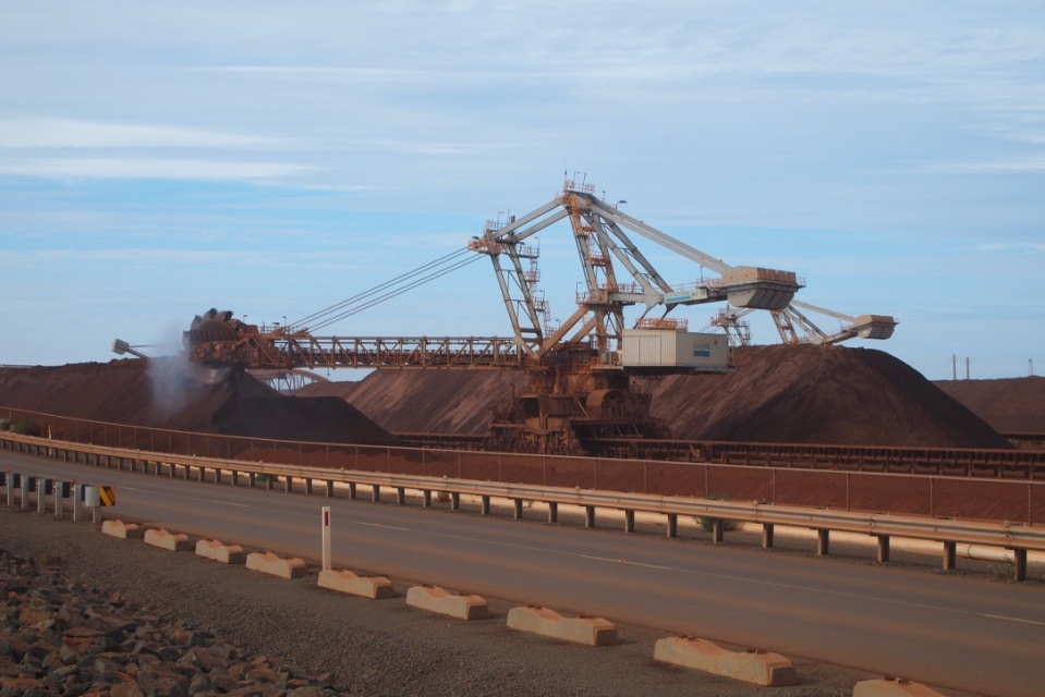 Karratha iron ore loading
