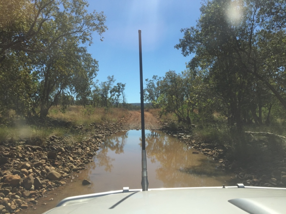 one of many creek crossings into Mt Hart