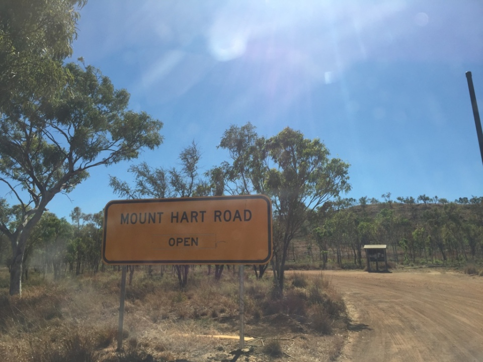 The entrance to Mt Hart