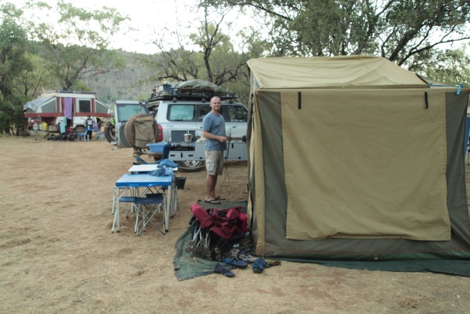 Camp at Windjana Gorge