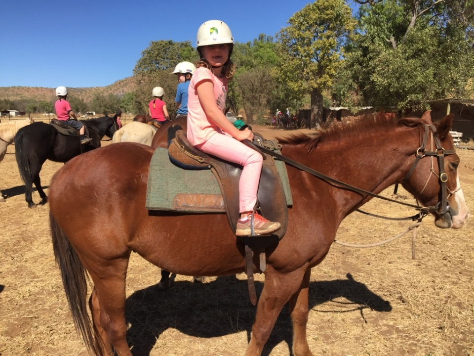 Birthday Girl on her horse