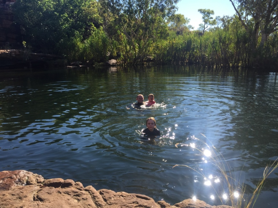 Swimming at Rock Pool