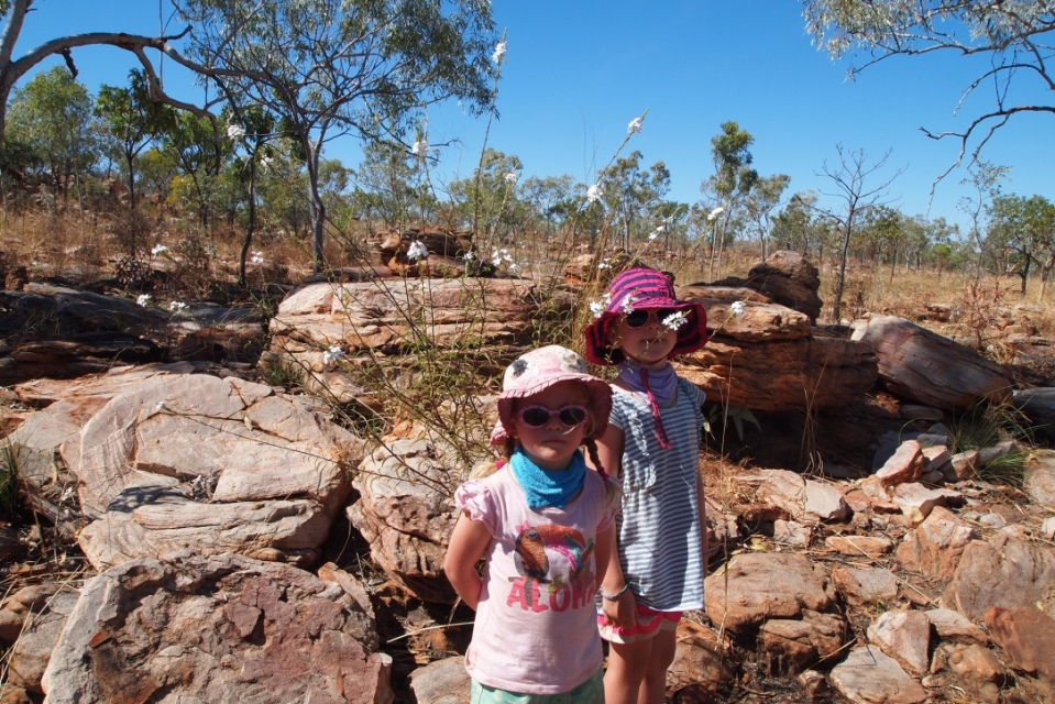 Girls walking to Manning Gorge