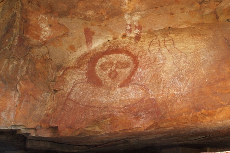 Wandjina painting at the gorge