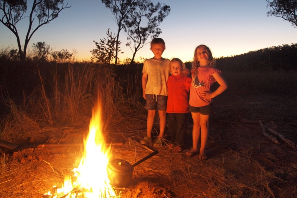 Campfire at Karls Lagoon - a camp all to our selves!