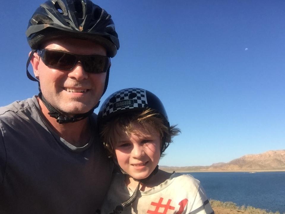 Bike ride selfie photo Aaron and Andrew