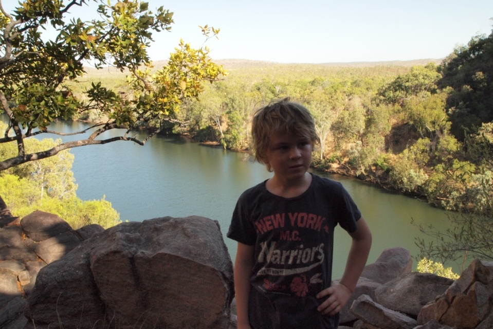 Aaron at Katherine Gorge