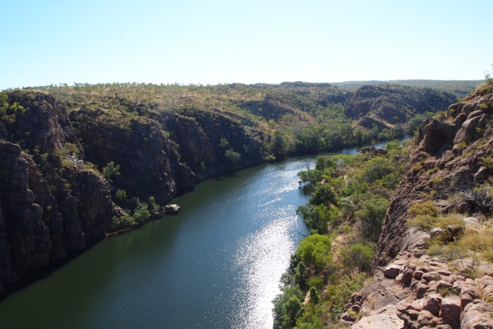 The view down Katherine Gorge