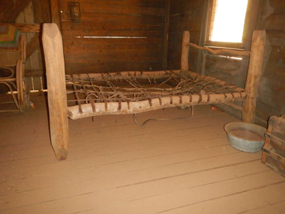 A replica bed from the movie set