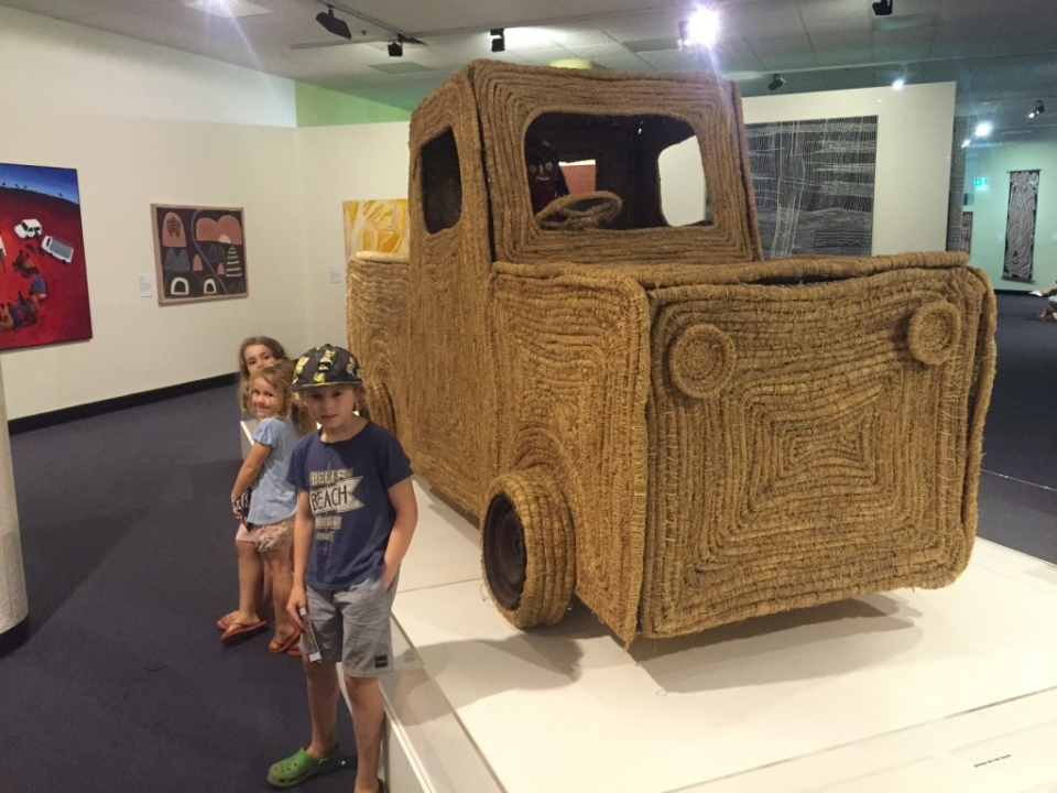Very cool weaving Ute at the indigenous art exhibition