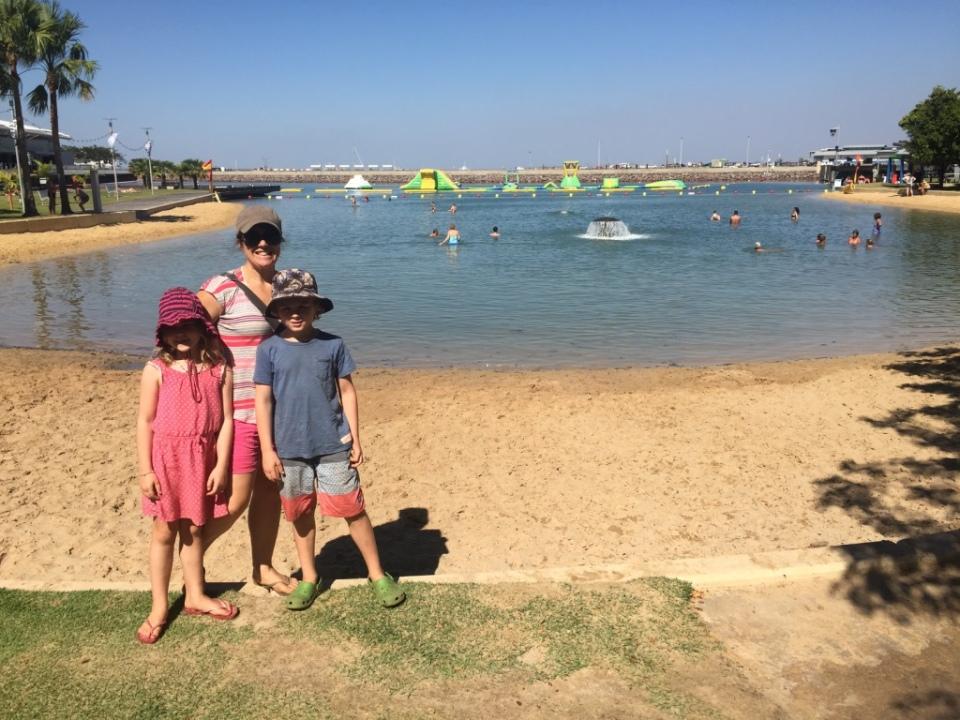 Darwins fake beach water front