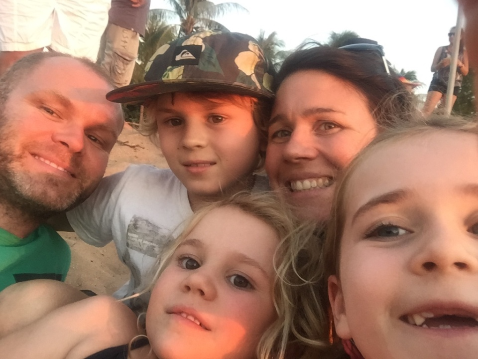 Family selfie at Mindil Beach