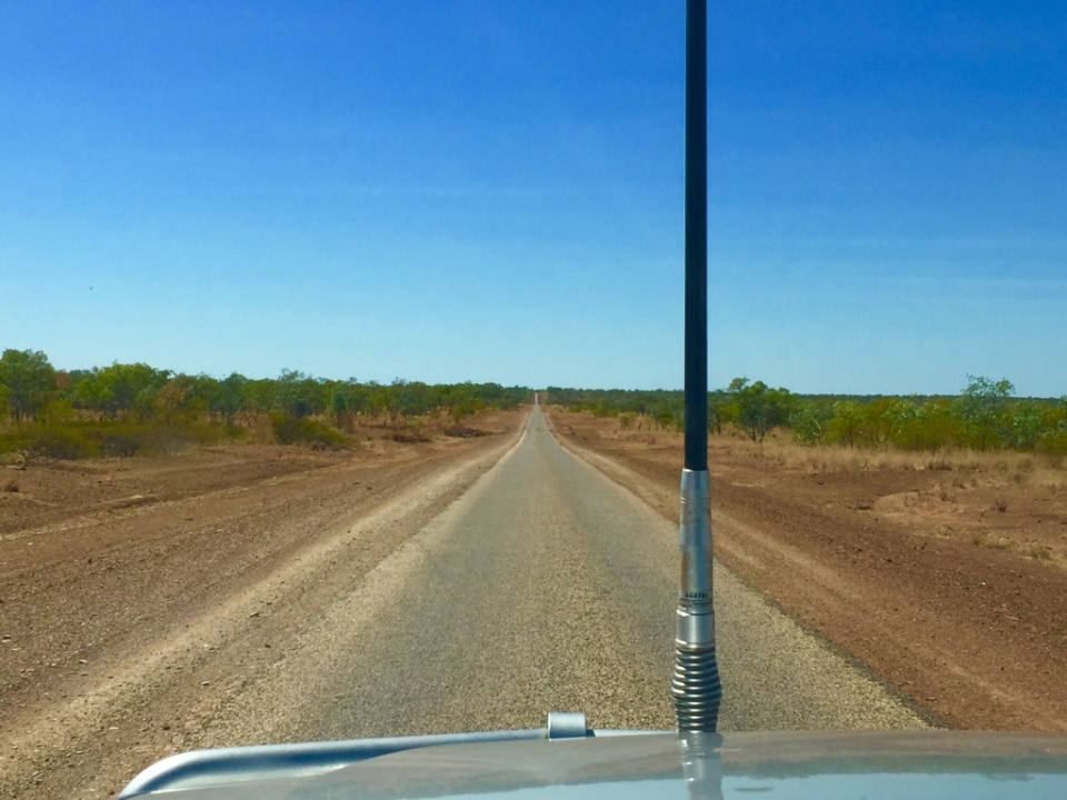 The road out of Mataranka