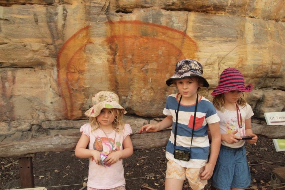 The special rainbow serpent rock art